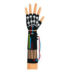 Virtual reality gloves arm technology vector