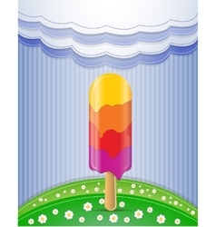 Nature with ice cream vector