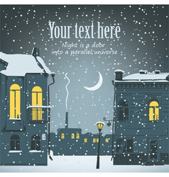 urban winter landscape vector image