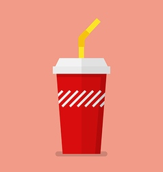 Soft drink in flat style vector