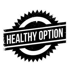 Healthy option stamp vector