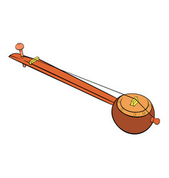 traditional indian ektara icon cartoon vector image