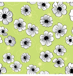 Flower seamless pattern floral background vector
