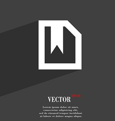Bookmark icon symbol flat modern web design with vector