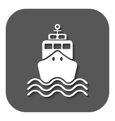 The ship icon travel symbol flat vector