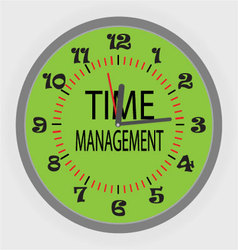 Time managment vector