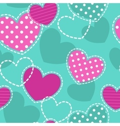Cute girlish seamless pattern vector