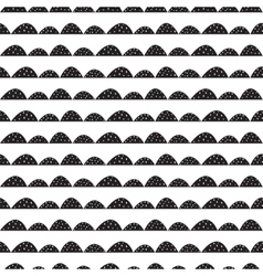 Scandinavian seamless black and white pattern in vector