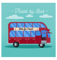 Travel banner tourism industry bus travel vector
