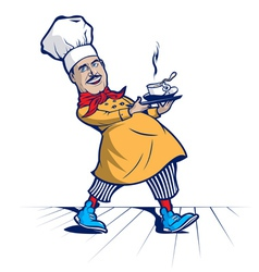 Cook chef smile vector