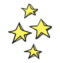 Freehand drawn cartoon decorative stars doodle vector