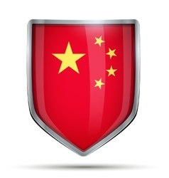 Shield with flag china vector