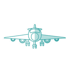 Airplane shadow vector