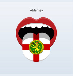 alderney language abstract human tongue vector image