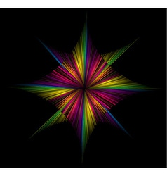 bright abstraction on a black background vector image vector image