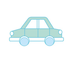 car design to transportation with tires and doors vector image