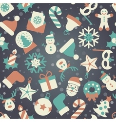 Christmas background pattern vector image