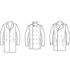 Coat vector