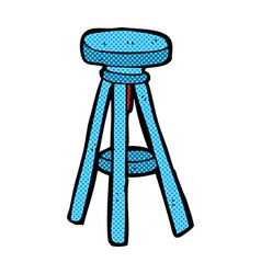 Comic cartoon stool vector