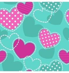 Cute girlish seamless pattern vector
