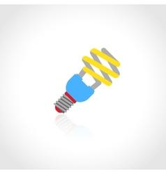 Energy saving lightbulb icon vector image vector image