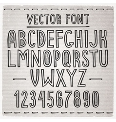 Hand drawn font alphabet vector image vector image