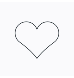 Heart icon love sign vector