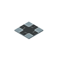 isolated crossroad isometric intersection vector image