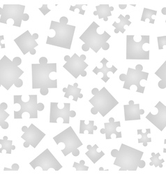 Jigsaw pieces isolated on white seamless pattern vector image vector image