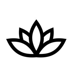 Lotus plant symbol spa and wellness theme design vector