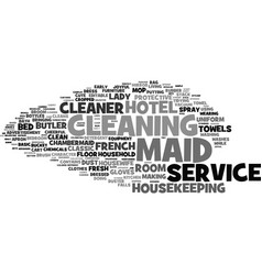 Maid word cloud concept vector