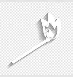 Match sign white icon with vector
