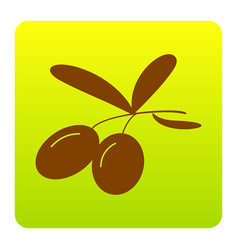 olives sign brown icon at vector image vector image