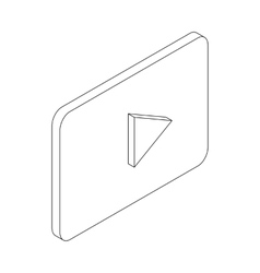 Play button icon isometric 3d style vector image