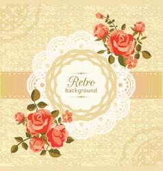 retro floral card vector image vector image