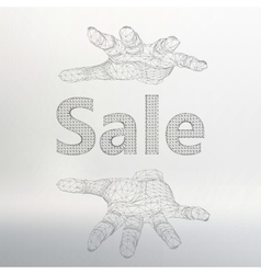 sale on the arm The hand vector image