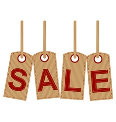 Sale tag retro design vector image