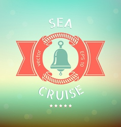 sea cruise bell vector image vector image
