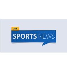 Sport news banner template isolated vector