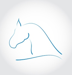 Stylazed emblem horse head vector image vector image