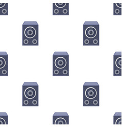 Subwoofer for loud musicparty and parties single vector