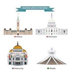 Wold capital city 01 vector
