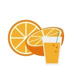 Orange and fruit juice icon vector
