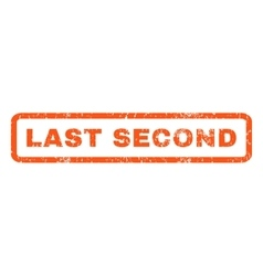 Last second rubber stamp vector