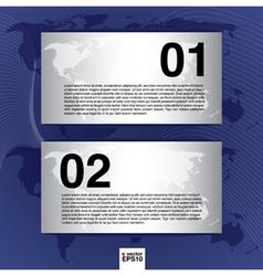 World map banner EPS10 vector image