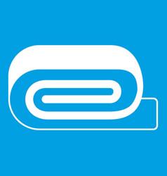 Spa towel icon white vector