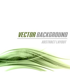 background green bottom vector image