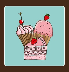 pastry design vector image