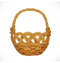Wicker basket isolated on white background vector