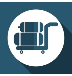 Luggage icon design vector